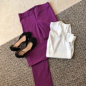 Ann Taylor purple ankle pants